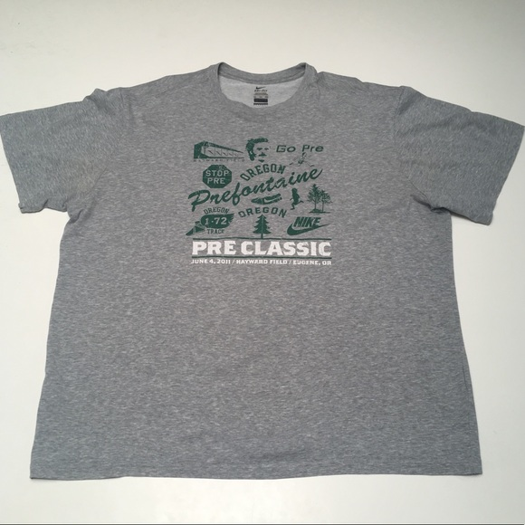 410dc2e9 Nike Shirts | Dri Fit 2011 Prefontaine Classic Oregon Gray | Poshmark